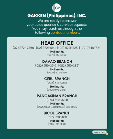 GAKKEN (Philippines) Updated Contacts: Know How To Reach Us Here!